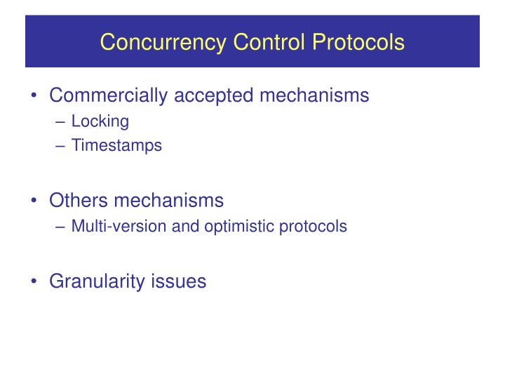 Concurrency Control Protocols