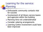 learning for the service planning