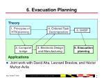 6 evacuation planning