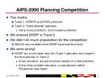 aips 2000 planning competition