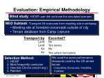 evaluation empirical methodology