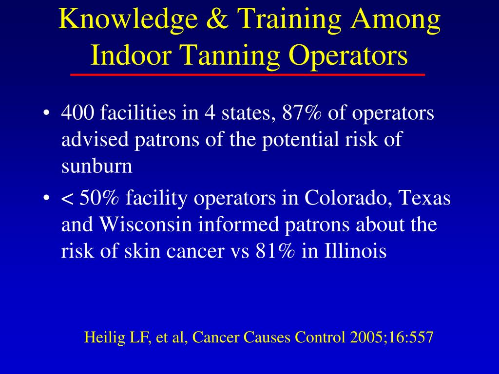 Knowledge & Training Among Indoor Tanning Operators