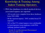 knowledge training among indoor tanning operators11