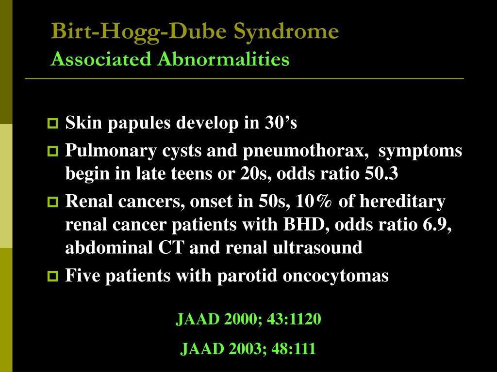 Birt-Hogg-Dube Syndrome