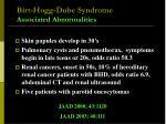 birt hogg dube syndrome associated abnormalities