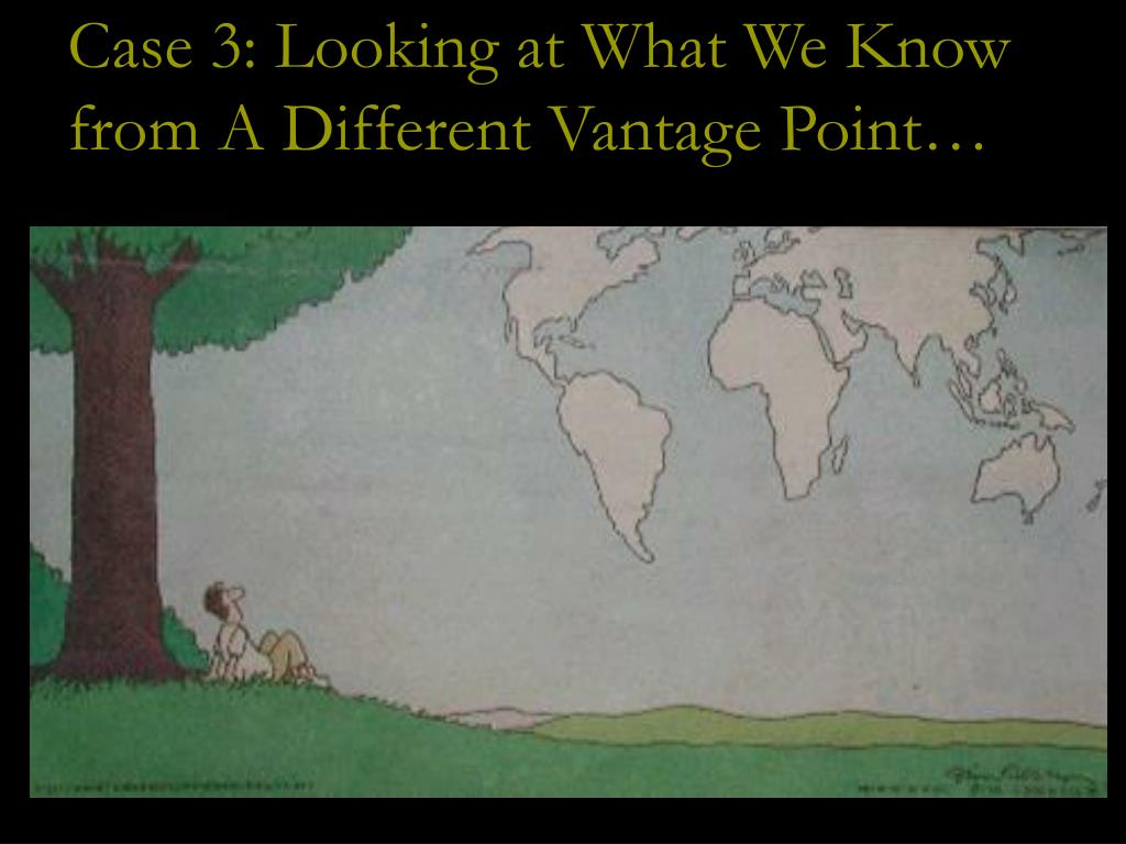 Case 3: Looking at What We Know from A Different Vantage Point…