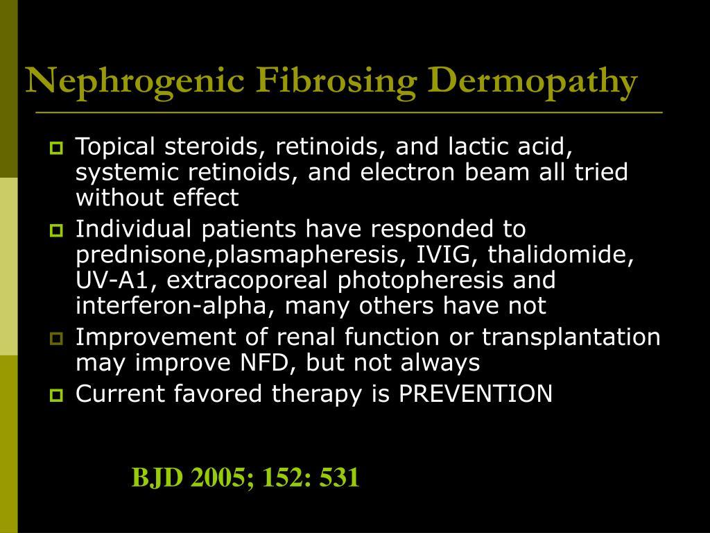 Nephrogenic Fibrosing Dermopathy