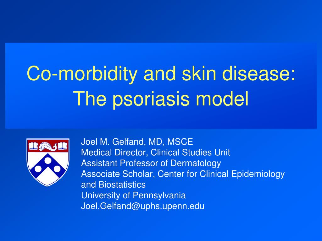 co morbidity and skin disease the psoriasis model l.