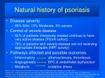 natural history of psoriasis