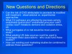 new questions and directions39