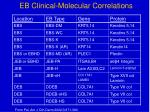 eb clinical molecular correlations