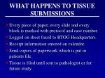 what happens to tissue submissions