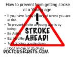how to prevent from getting stroke at a young age