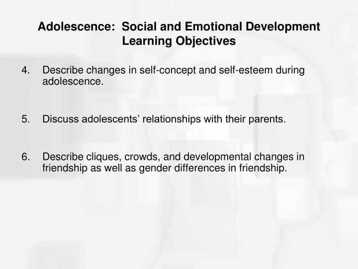 self esteem in adolescents and gender differences Patton, wendy and bartrum, dee a and creed, peter a (2004) gender differences for optimism, self-esteem, expectations and goals in predicting career planning and exploration in adolescents.