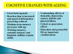 cognitive changes with ageing