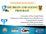 the brain and ageing program