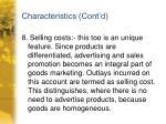 characteristics cont d7
