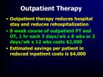 outpatient therapy47