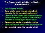 the forgotten revolution in stroke rehabilitation