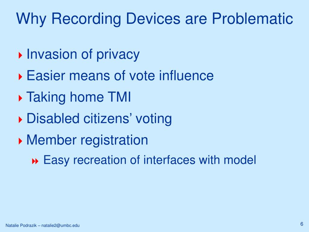 Why Recording Devices are Problematic
