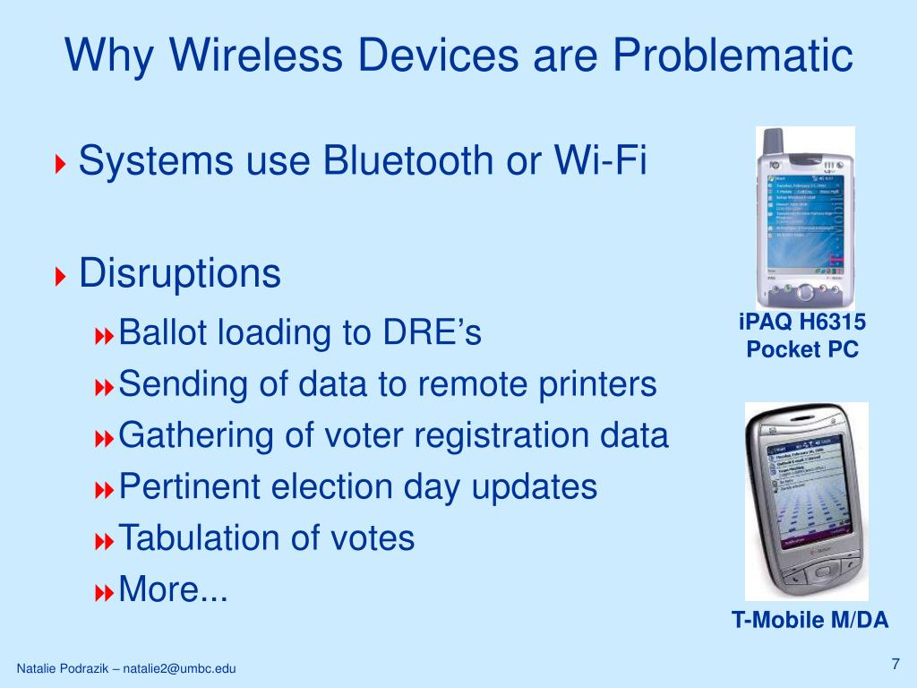 Why Wireless Devices are Problematic