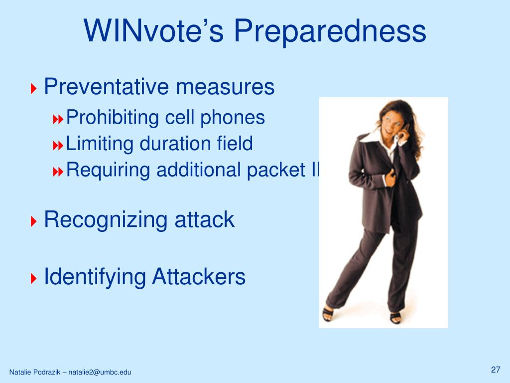 WINvote's Preparedness
