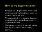 how do we diagnose a stroke28