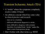 transient ischaemic attack tia