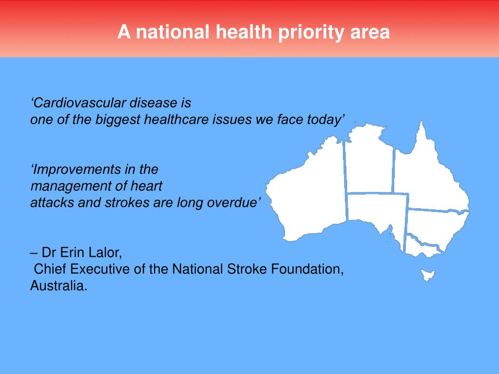 A national health priority area