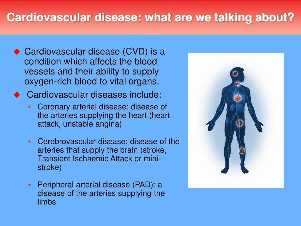 Cardiovascular disease: what are we talking about?