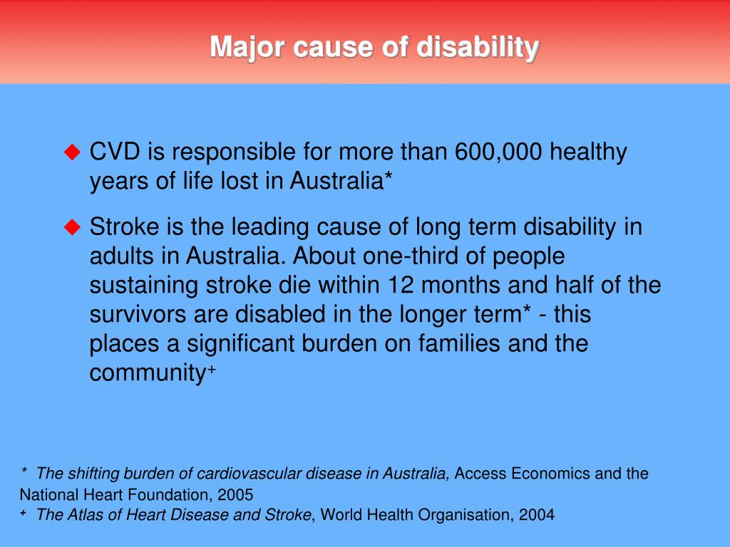 Major cause of disability