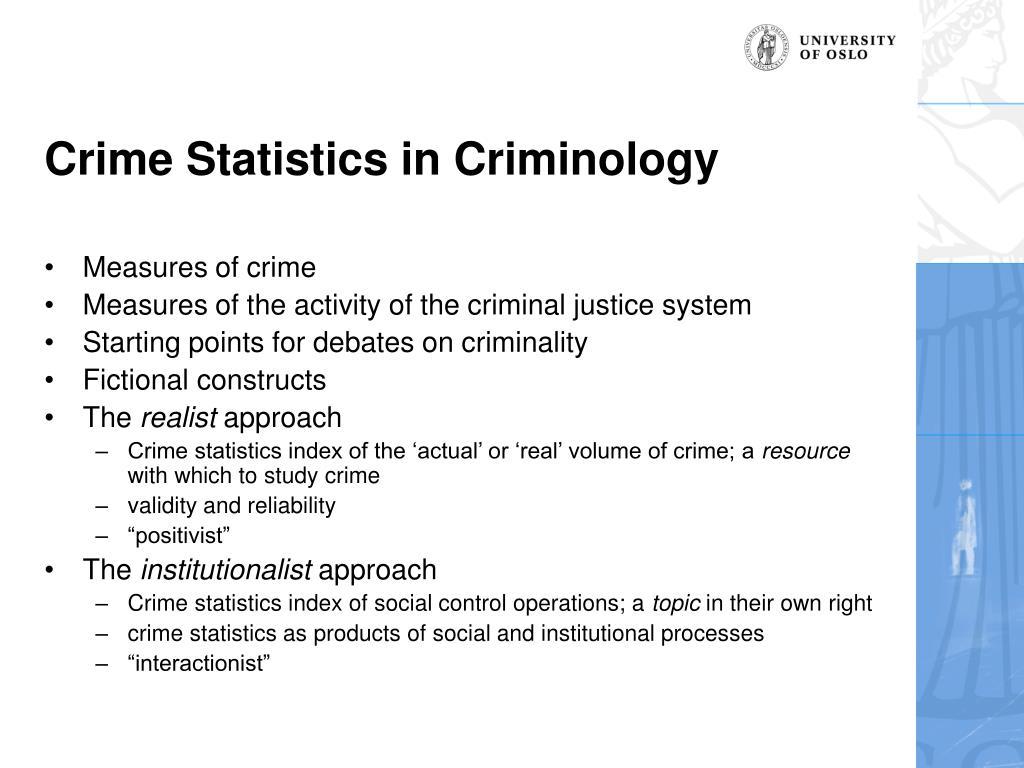 Crime Statistics in Criminology