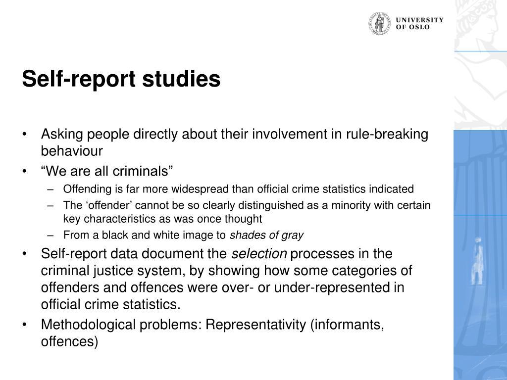 Self-report studies