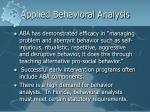 applied behavioral analysis26
