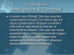 in the news mmr vaccine thimerosal