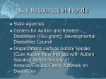 key resources in florida