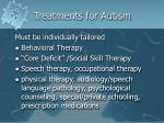 treatments for autism