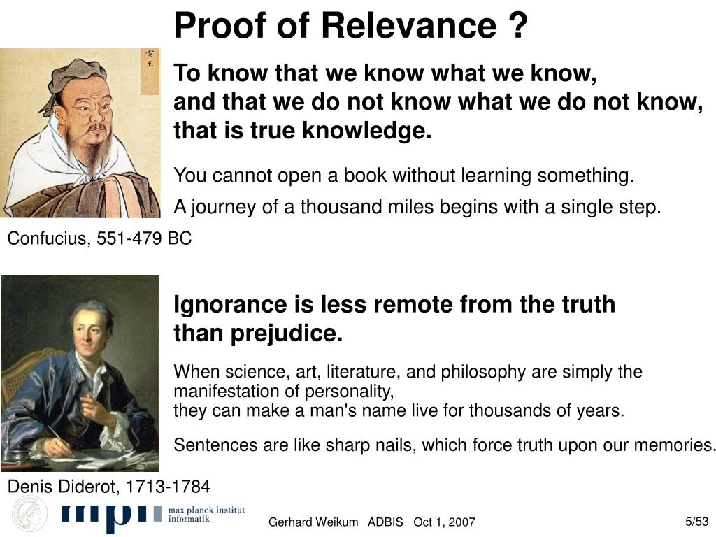 Proof of Relevance ?