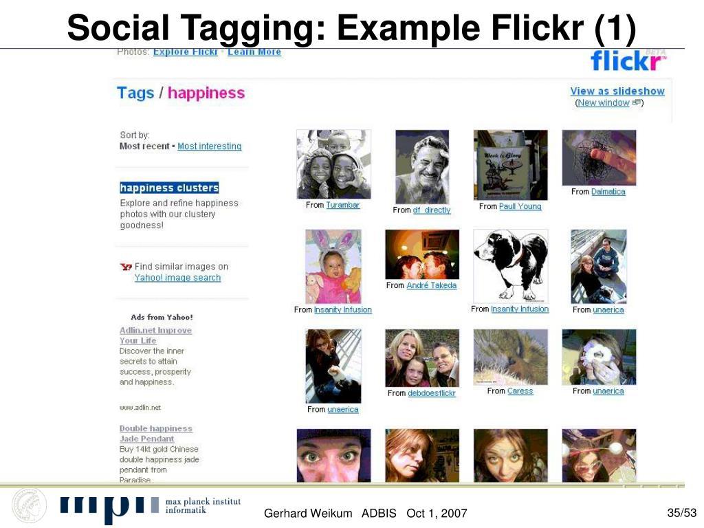 Social Tagging: Example Flickr (1)