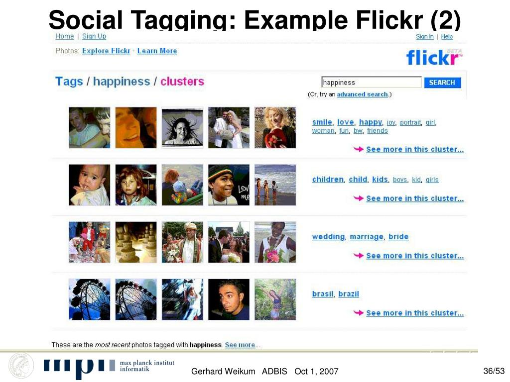 Social Tagging: Example Flickr (2)