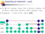 inserting an element cont