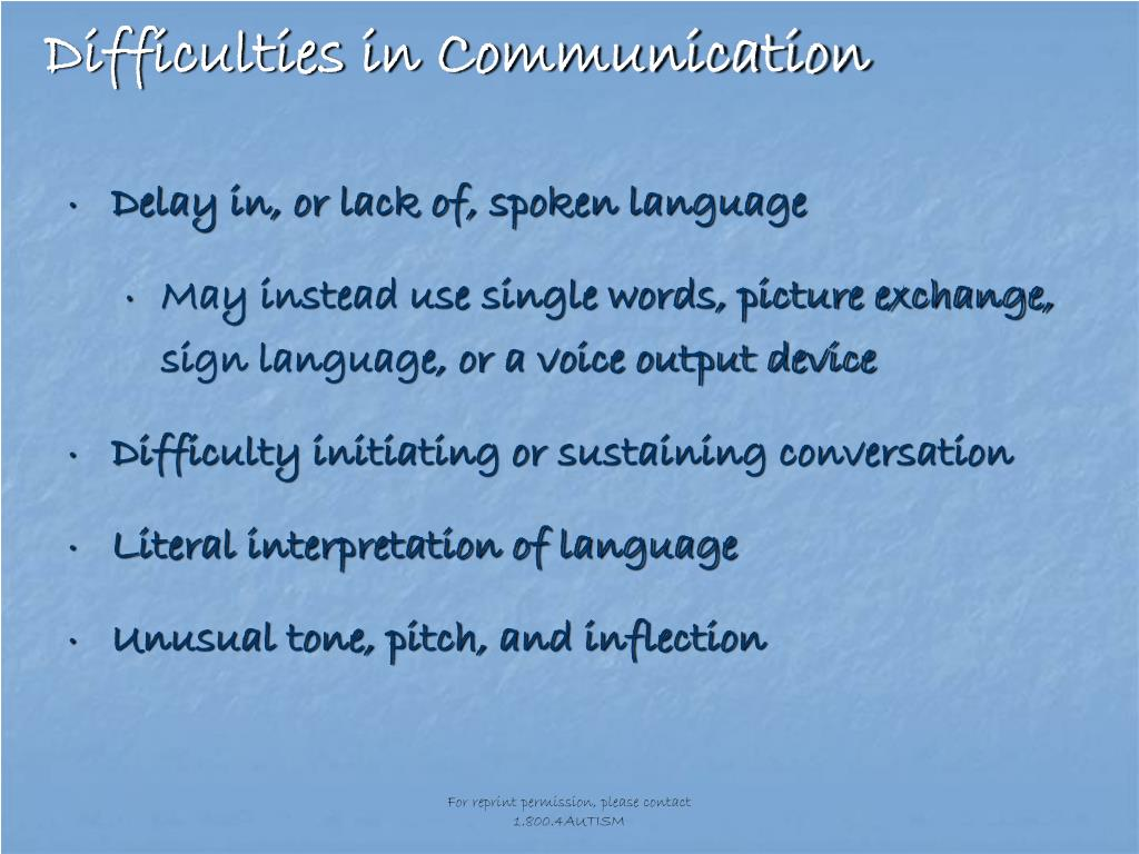 Difficulties in Communication