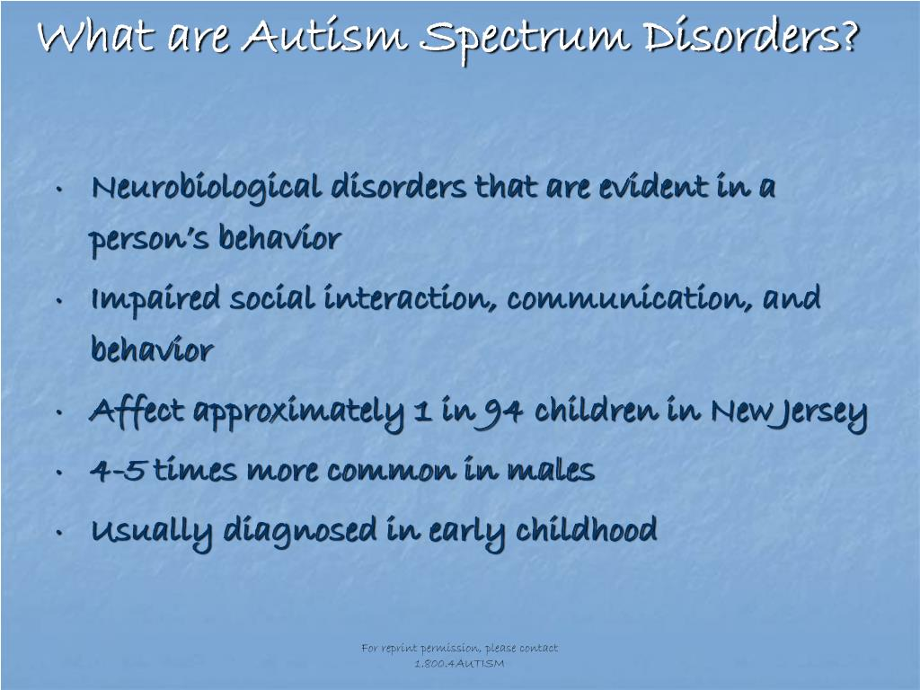 What are Autism Spectrum Disorders?