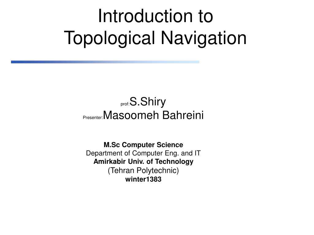 introduction to topological navigation l.