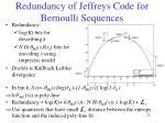 redundancy of jeffreys code for bernoulli sequences