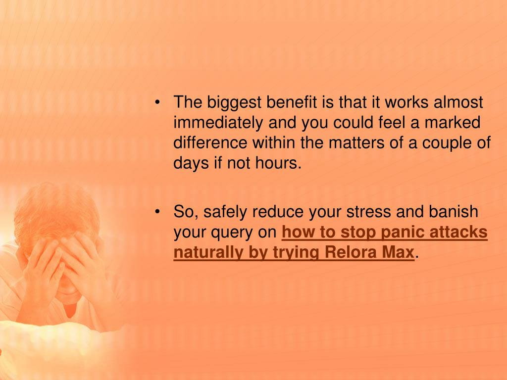 Ppt How To Stop Panic Attacks Naturally Powerpoint Presentation