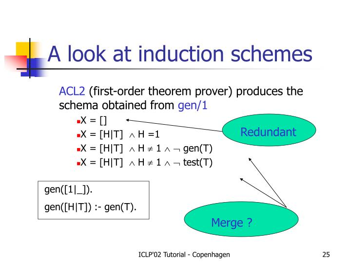 A look at induction schemes