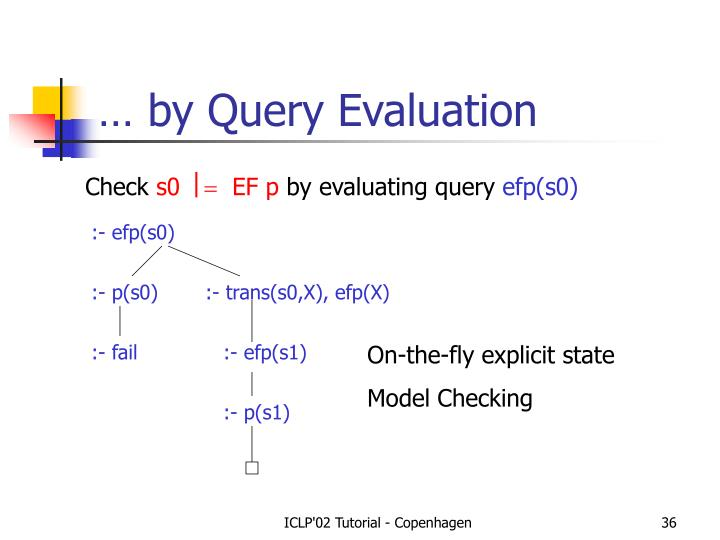 … by Query Evaluation