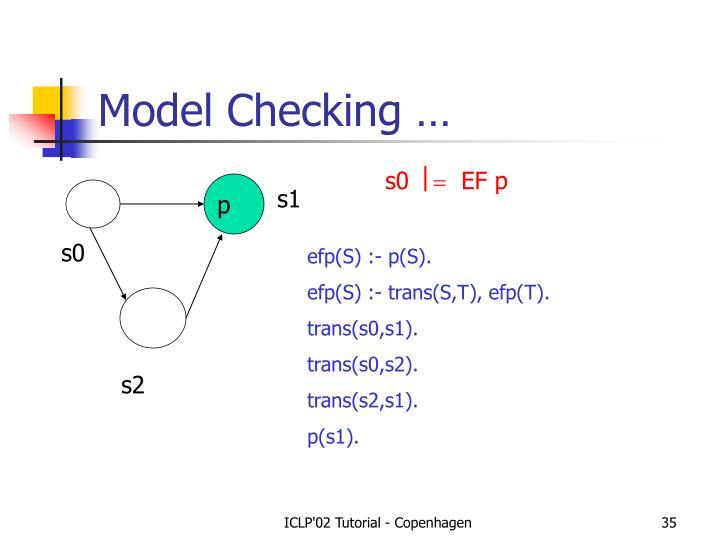 Model Checking …