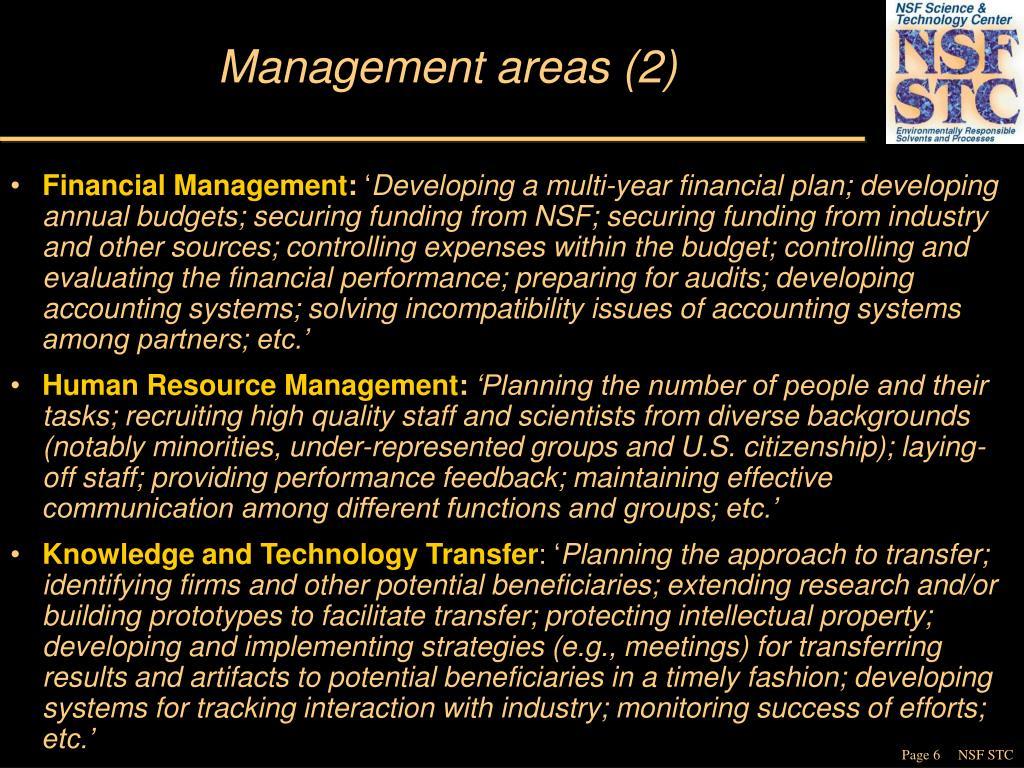 Management areas (2)